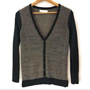 LOFT Women's Long Sleeve Button Cardigan Sweater